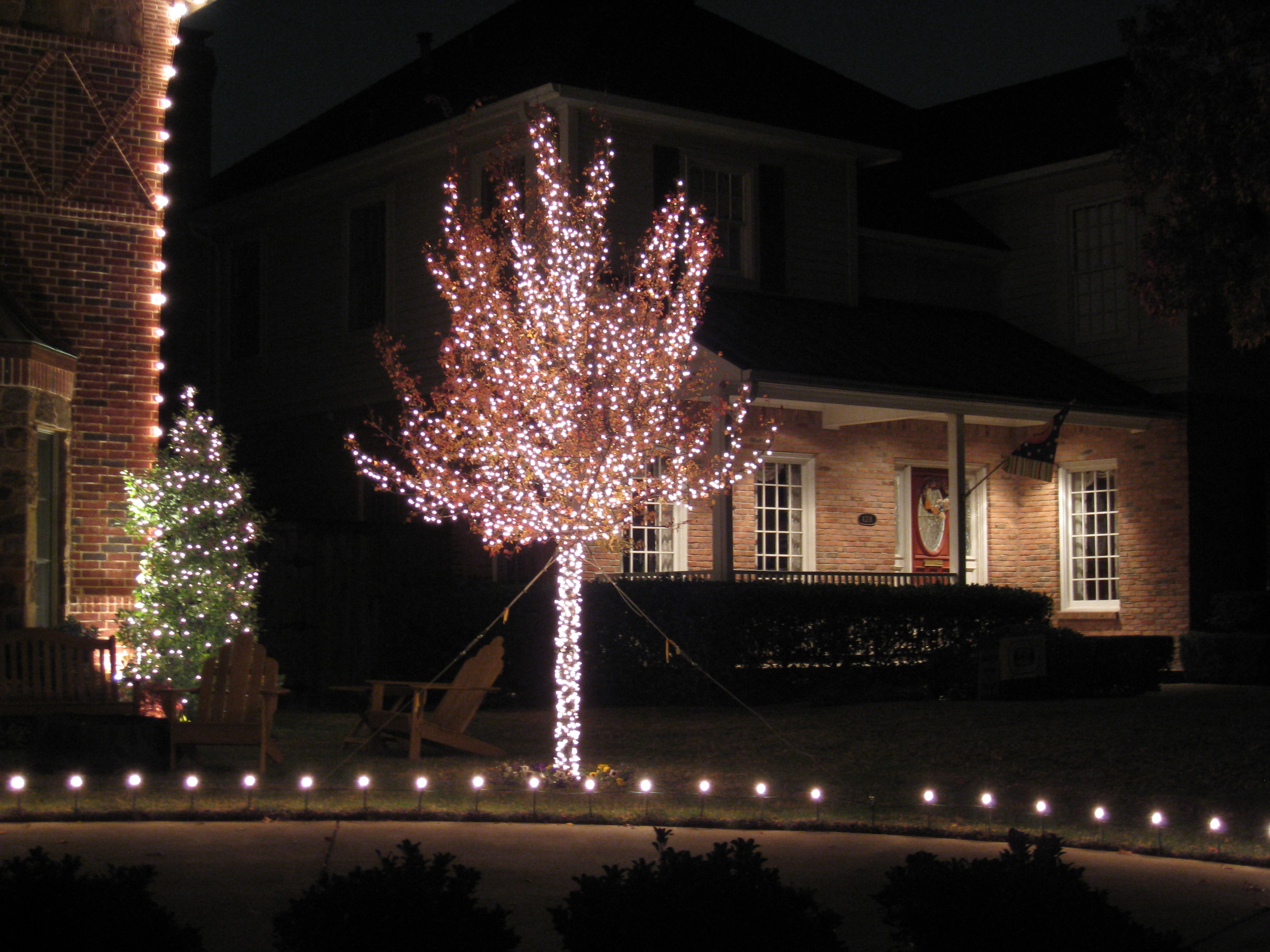 led christmas lights tree trunk wraps christmas light installers dallas christmas light installation services