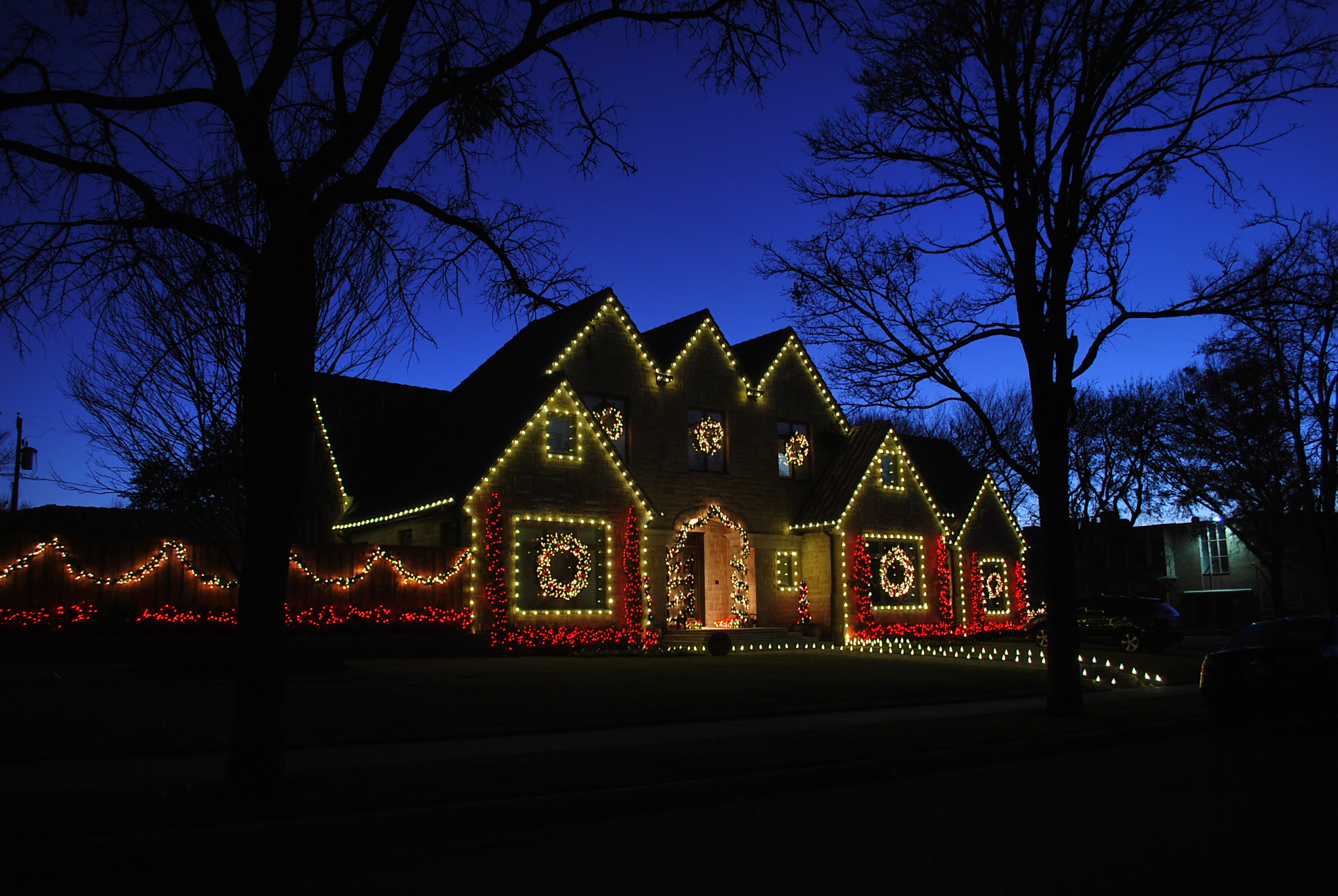LED Christmas lights Dallas